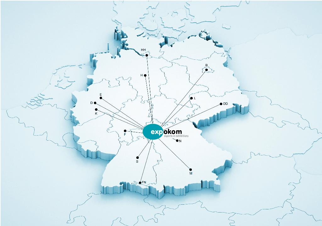 expokom GmbH | Messeziele Karte