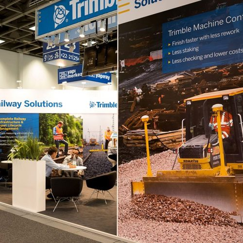 expokom GmbH | Außenpräsentation Messestand Trimble