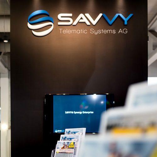 expokom GmbH | Messestand Bildschirm Savvy