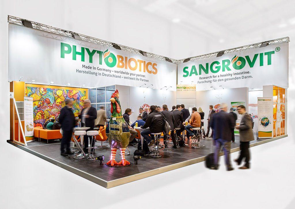 expokom GmbH | Messestand Gesamtansicht Phytobiotics