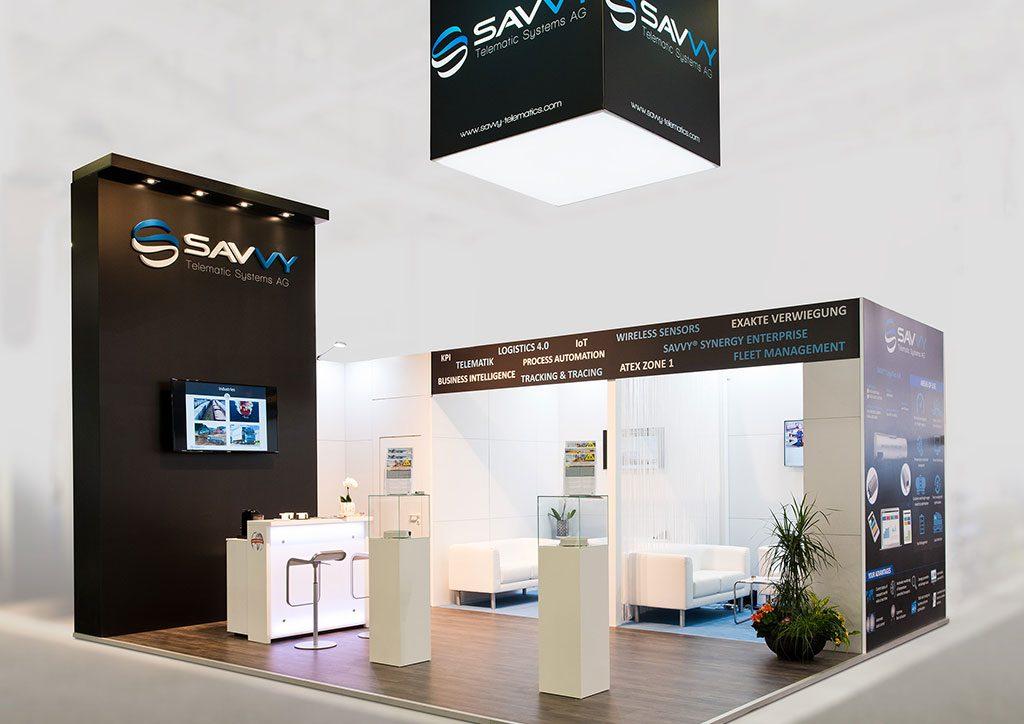 expokom GmbH | Messestand Gesamtansicht Savvy