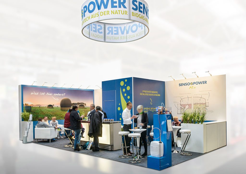 expokom GmbH | Messestand Gesamtansicht Sensopower