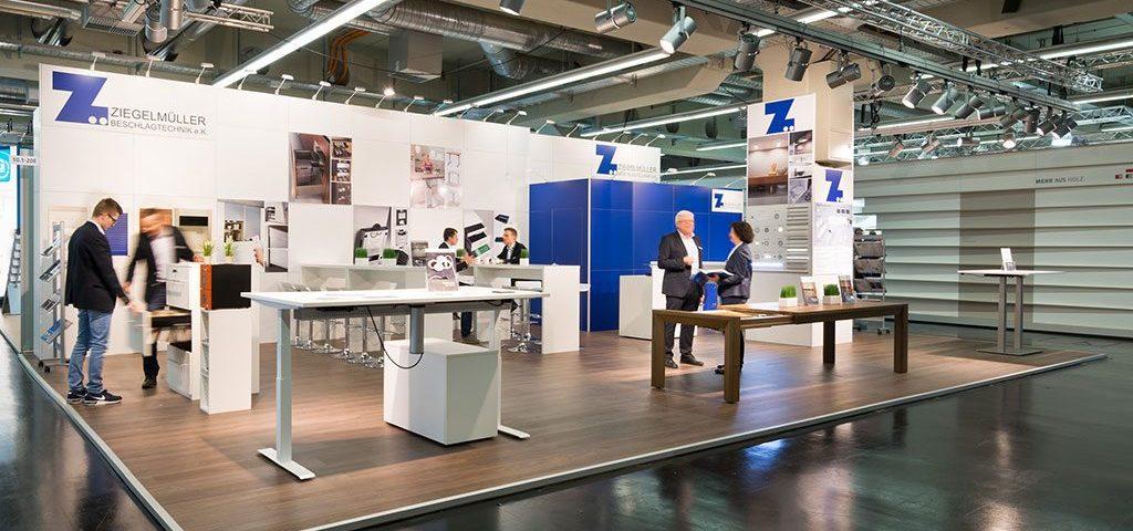 expokom GmbH | Gesamtansicht Messestand Ziegelmueller