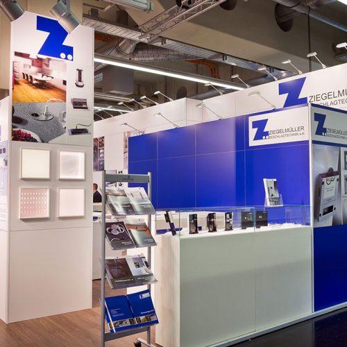 expokom GmbH | Produktpaesentation Messestand Ziegelmueller