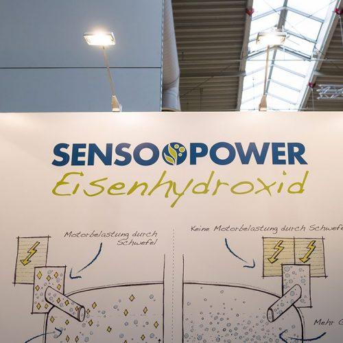 expokom GmbH | Messestand Wandbeleuchtung Sensopower